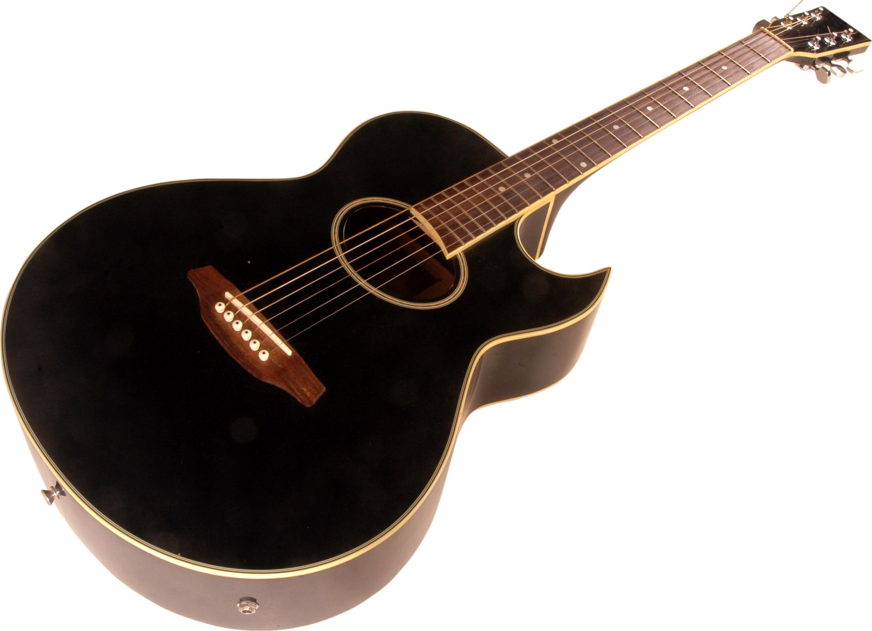 Akustická kytara s výkrojem